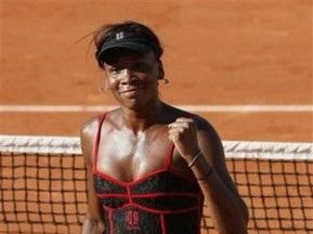 Roland Garros: Венус Уильямс легко выходит во второй круг