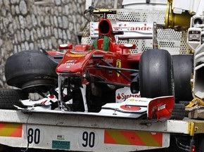 Гран-при Монако: Алонсо разбил болид во время третьей практики