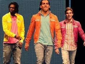 Футболисты МанСити приняли участие в благотворительном модном показе