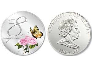 Ощадбанк предлагает монету, посвященную 8 марта