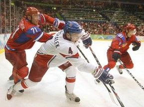 Хоккей: Россия празднует победу над Чехией