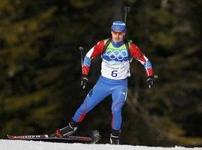 Россия берет первое золото в биатлоне
