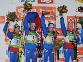 Российские биатлонистки вернули призовые за эстафеты