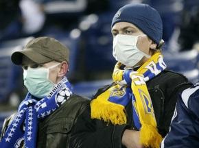 Болельщикам на матче Украина - Греция выдадут марлевые повязки