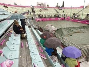 Матч финала Кубка Федерации прерван из-за дождя