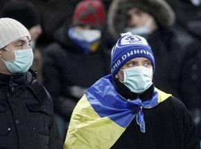 На матче Динамо и Интера лишь часть болельщиков была в медицинских масках