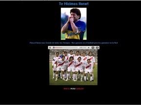 Перуанские болельщики взломали сайт Марадоны