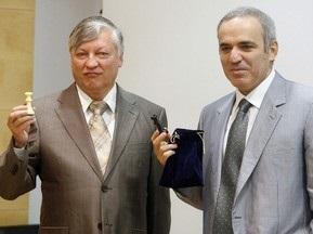 З сайту матчу Карпов - Каспаров зникли всі дані