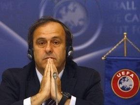 Платини заявил, что Украину из Евро-2012 не выбить