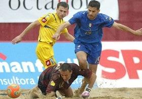 Пляжный футбол: Украина по пенальти одолела Эстонию на пути к ЧМ-2009