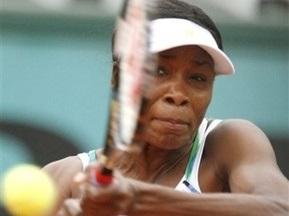 Roland Garros: Вінус Вільямс насилу впоралася з Люсі Шафаровою