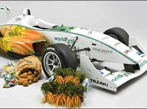 Британцы сделали болид для Формулы-3 из овощей
