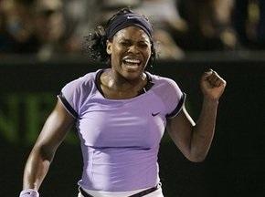 WTA: Серена Вільямс очолює список найкращих
