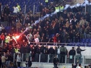 Вболівальники Лаціо побилися з гравцями Роми