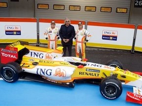Renault представила новый болид, а Алонсо - шлем