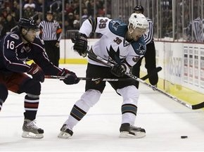 NHL: Акули поступились в Огайо