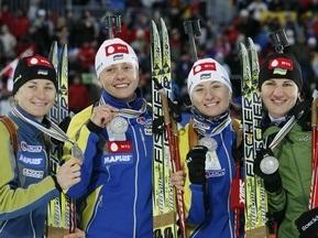 Биатлон: Украинки финишировали пятыми