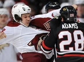 NHL: Ястребы поиздевались над Койотами