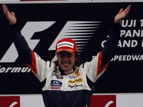 Алонсо выигрывает Гран-при Японии