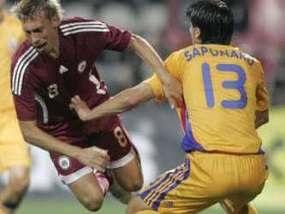 Латвійські футболісти протестують
