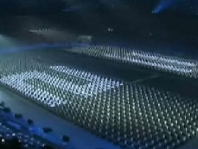 Олимпиада-2008: Корейское телевидение показало репетицию церемонии открытия
