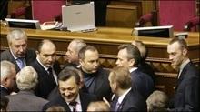 Прем'єріада: Депутати ПР заблокували трибуну Верховної Ради