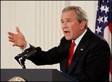 Буш запропонував американцям звернутися за допомогою за  неіснуючим  телефоном.