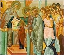 Сьогодні відзначається Введення у храм Пресвятої Богородиці
