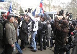 В Одессе Маркова забросали яйцами