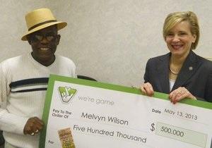 Пожилой американец за девять лет выиграл в лотерею более двух миллионов долларов