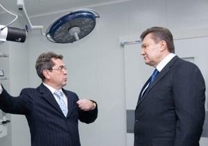 Янукович заявил, что уволил главу Минздрава