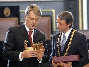 Ющенко: Прага стала очагом нашей национальной мысли