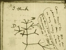 В Сети появились рукописи Дарвина