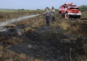 В Луганской области выгорели 20 га травы и 8 га леса