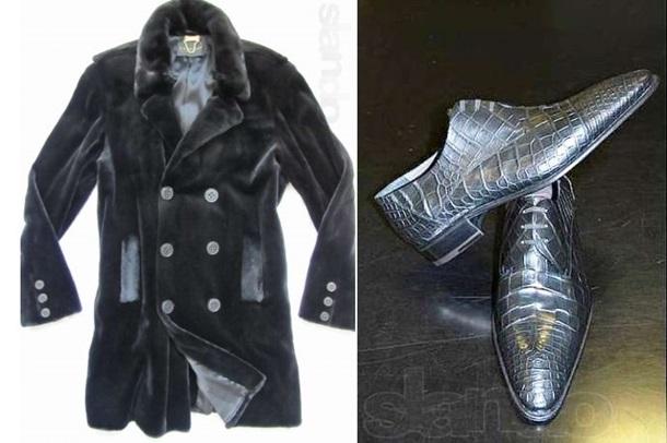 Кожушок з норки за 30 тисяч грн та туфлі