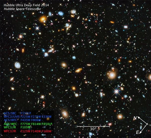 """NASA опубликовало """"самое красочное"""" изображение Вселенной"""