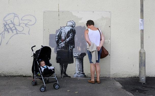 ФОТО: Бэнкси нарисовал новое граффити