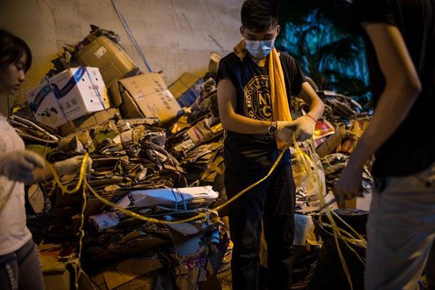 Майдан в Гонконге: палатки, баррикады и спящие студенты
