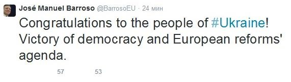 Глава Єврокомісії назвав вибори до Ради перемогою демократії
