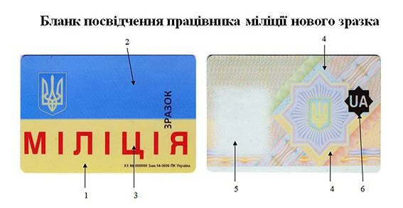 образец удостоверения полиции украины