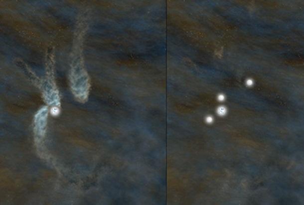 ФОТО: Впервые запечатлено рождение звездной системы!