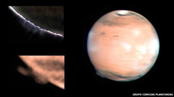 ФОТО: Над Марсом замечена таинственная дымка