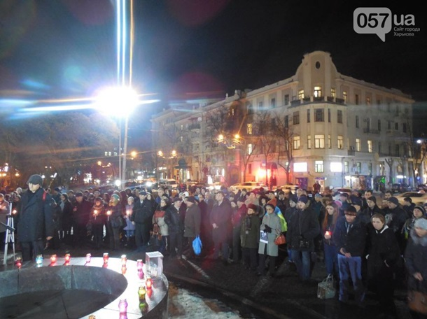 ВИДЕО: Харьков поминает погибших при теракте 22 февраля
