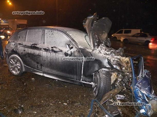 ДТП на $1 млн: в Киеве разбились 5 дорогущих иномарок