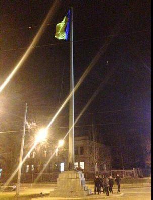 Взрыв в Харькове: попыттка подорвать стелу с флагом Украины