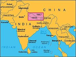 Непал где находится на карте мира