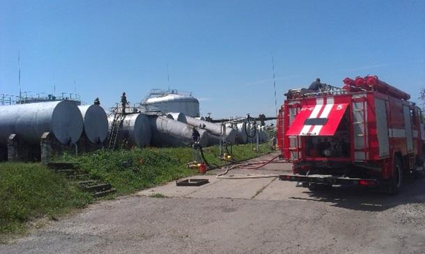 В Ровенской области произошел взрыв на нефтебазе