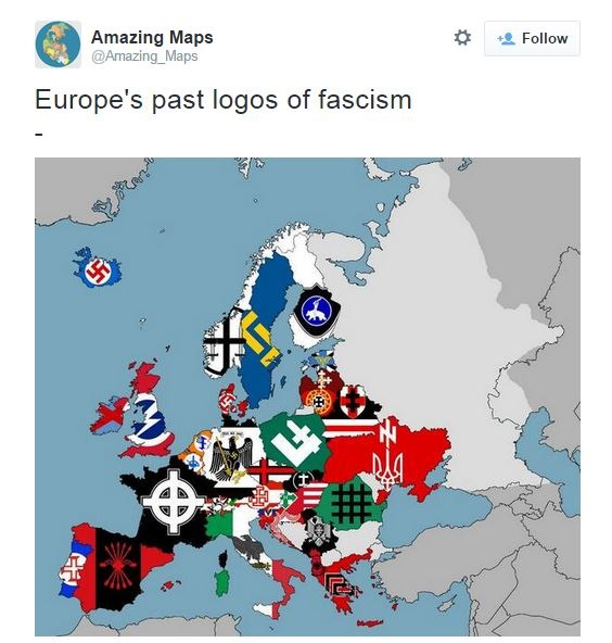 """""""Азов"""" потрапив на """"карту нацизму"""" в Європі (ФОТО) - фото 1"""