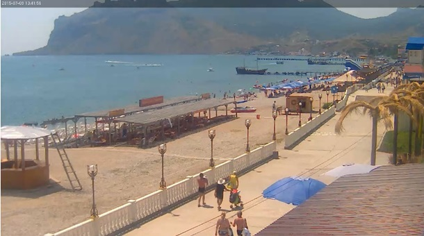 видио камера на нудийском пляже крыма