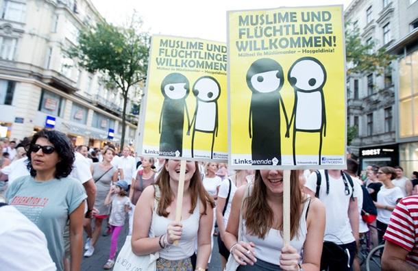 В Вене демонстрация в поддержку мигрантов